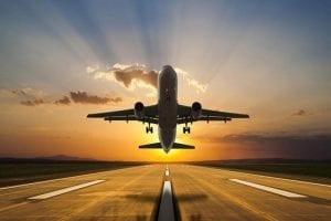 Plane taking flight