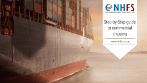 Step-by-step guide to commercial shipping: A ship approaching the harbour