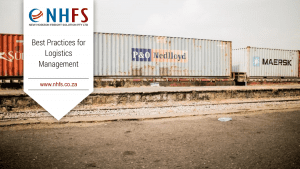 NHFS recommends following these best logistics management practices for optimal efficiency & success